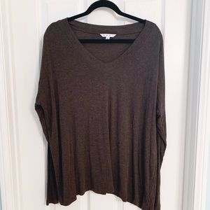 Cabi Brown V-neck Sweater Size Small
